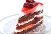 Tarta de fresas sobre un fondo blanco. — Foto de Stock
