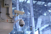 CCTV cameras in the airport. — Stock Photo