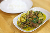 Beef Red curry with rice — Stock Photo