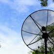 Satellite dish with sky. — Stock Photo