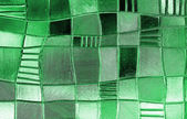 Stained glass window with irregular block pattern in a hue of gr — Stock Photo