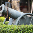 Historic cannon on display — Stock Photo