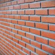 Side view of red brick wall — Stock Photo