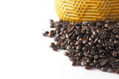 Coffee beans on white backgrond — Foto de Stock