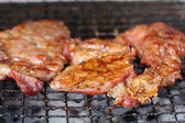 Pork grilled on the stove for sale — Stock Photo