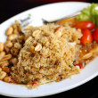 Salad with fried catfish food Thailand — Stok fotoğraf