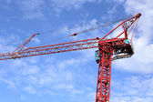 Red cranes in the sky — Stock Photo