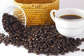 Coffee beans on white backgrond — Foto Stock