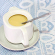 Stock Photo: Sweetened condensed milk for coffee