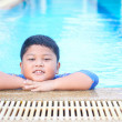 Boy was swimming in pool. — Stockfoto #37886599