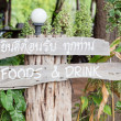 Stock Photo: Old wooden sign