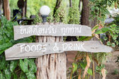 Old wooden sign — Stock Photo