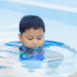 Boy was swimming in pool. — Stockfoto #37970353