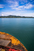 Boat across to the island — Stok fotoğraf