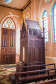 The interior of the church confessional — Stockfoto