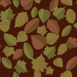 Leaves, autumn, pattern seamless — Stock Photo
