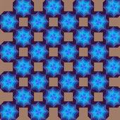 Geometric pattern snowflake — Stock Photo