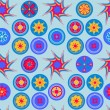 Seamless abstract cheerful colorful vector pattern — Векторная иллюстрация