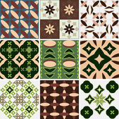 Set of Seamless Wallpaper geometric patterns — Vector de stock