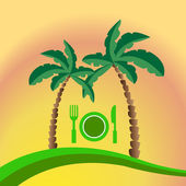 Tropical beach Menu — Stock Vector