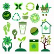 Stock Vector: Ecology icons set