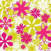 Brightly Seamless floral pattern  — Stock Vector