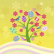 Blossoming tree and Happy Easter — Stock Vector #41843649