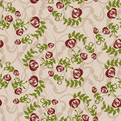Vintage background with roses - Illustration — Stockvector