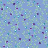 シームレスな花パターン ベクトル — ストックベクタ