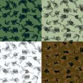 Vector Camouflage in 6 Colors - Illustration — Stock Vector