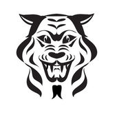 Wolf snout tatoo — Stock Vector