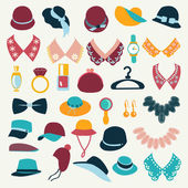 Icon Set vector of fashion  accessories-illustration — Stockvektor