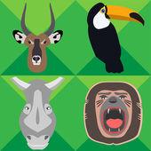Safari Animals - Illustration — Vettoriale Stock