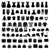 Men's and Women Clothes and accessories  fashion elements - Illu — Stock Vector