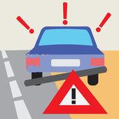 Car Accident Vector Illustration — Stock Vector