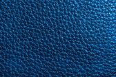 Textura de cuero en color azul — Foto de Stock