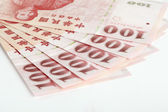 Six piece of one hundred dollar of New Taiwan Dollar cash clos — Stock Photo