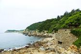 Scrap bunker ,DongYin Coast line ,Matsu, Taiwan — Stock Photo