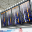 Hong Kong, July,21th,2011 : Hong Kong Airport boarding time tabl — Stockfoto