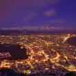 Hakodate City night sight top view from Hakodate Mountain — Stock Photo #28168789