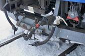 Hakodate bahnhof hokutosei trainieren autos connector hautnah — Stockfoto