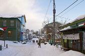 Hakodate stad, japan, december, 21, 2009: straat zicht met p — Stockfoto