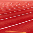 Racetrack in red — Stock Photo