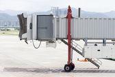 Airport Jet Bridge close up without flight — Stock Photo