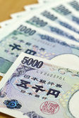 Japanese cashes one thousand and five thousand dallors cashes c — Photo
