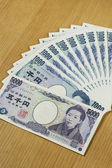 Japanese cashes one thousand and five thousand dallors cashes c — Stock Photo