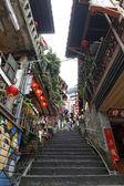 улица прицел jiufen, тайбэй, тайвань:, 7 мая 2014, jiufen ул — Стоковое фото