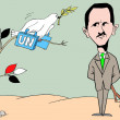 Stock Photo: Caricature. Cunning Bashar - al - Assad