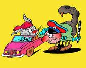 Caricatura. idilio road — Foto de Stock