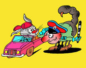 Caricatura. idillio di strada — Foto Stock